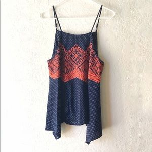 THML Anthropologie Tank Medium Embroidered Floral